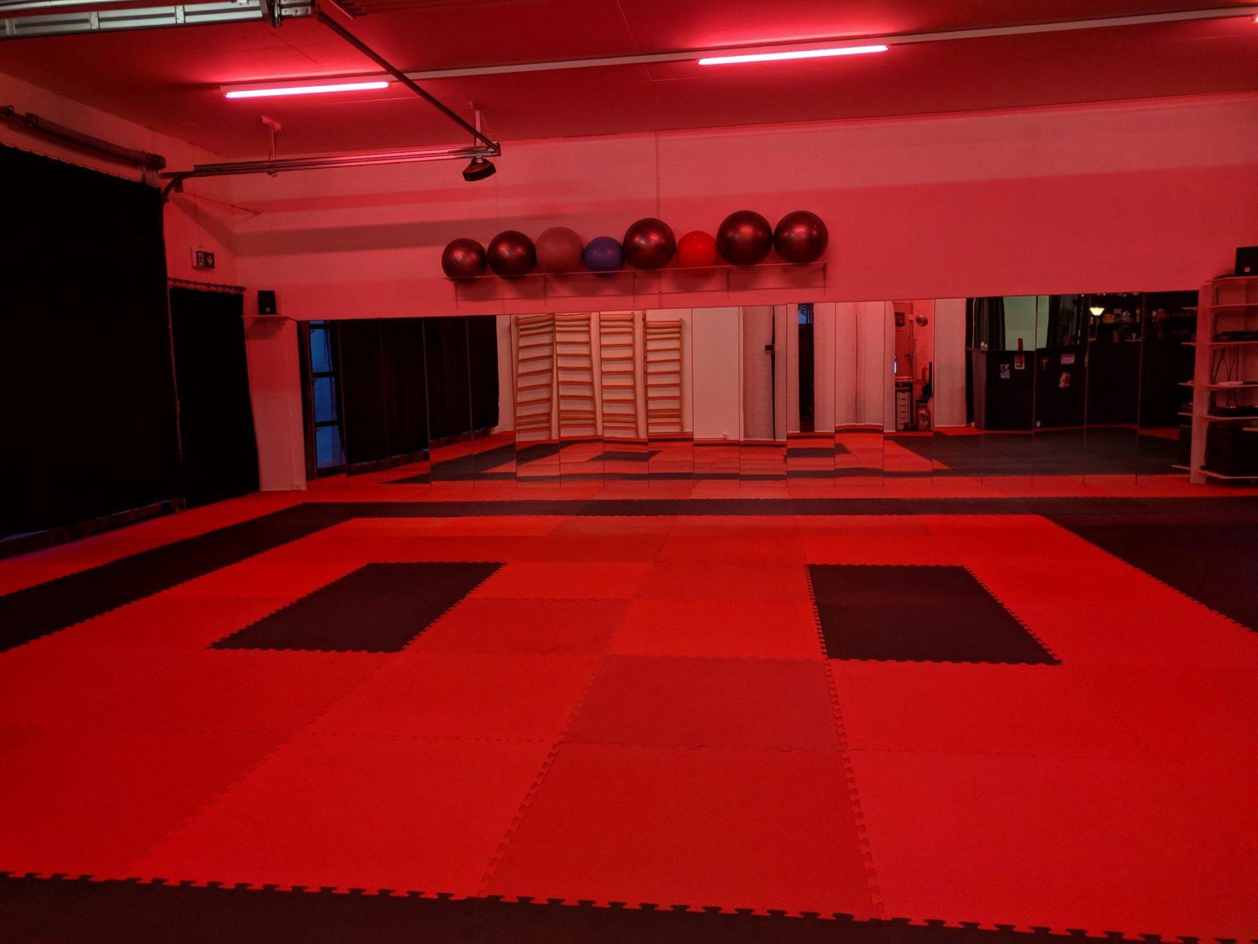 salle-dojo-ryokuzan-rouge-lumiere